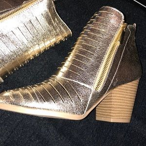 Gold Distress Prenton Booties - NIB